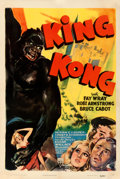 "Movie Posters:Horror, King Kong (RKO, R-1942). Fine/Very Fine on Linen. One Sheet (27.25"" X 41"").. ..."