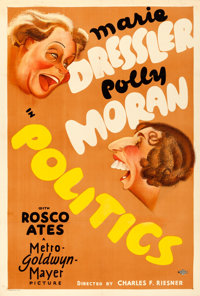 "Politics (MGM, 1931). Very Fine- on Linen. One Sheet (27.5"" X 41"") Al Hirschfeld Artwork"