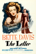 "Movie Posters:Film Noir, The Letter (Warner Bros., 1940). Fine+ on Linen. One Sheet (27.5"" X 41"").. ..."
