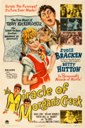 "Movie Posters:Comedy, The Miracle of Morgan's Creek (Paramount, 1944). Fine/Very Fine on Linen. One Sheet (27.25"" X 41"").. ..."
