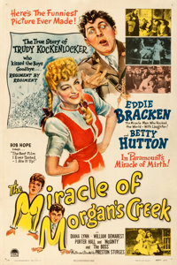 "The Miracle of Morgan's Creek (Paramount, 1944). Fine/Very Fine on Linen. One Sheet (27.25"" X 41"")"