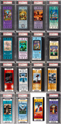 Football Collectibles:Tickets, 1973-2013 Super Bowl Full Tickets Lot of 37, PSA Graded (36)....