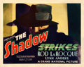 "Movie Posters:Mystery, The Shadow Strikes (Grand National, 1937). Fine- on Paper. Half Sheet (22"" X 28"").. ..."