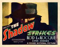 "The Shadow Strikes (Grand National, 1937). Fine- on Paper. Half Sheet (22"" X 28"")"