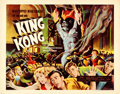 "Movie Posters:Horror, King Kong (RKO, R-1956). Rolled, Very Fine+. Half Sheet (22"" X 28"").. ..."