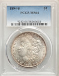 Morgan Dollars, 1894-S $1 MS64 PCGS....