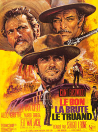 "The Good, the Bad and the Ugly (United Artists, 1968). Folded, Very Fine+. French Grande (46"" X 61.25""). Jean..."