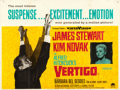"Movie Posters:Hitchcock, Vertigo (Paramount, 1958). Folded, Fine/Very Fine. British Quad (30"" X 40""). . ..."