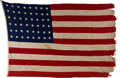 Military & Patriotic:WWII, USS Iowa Ensign from FDR's Secret Trip to Tehran.. ...