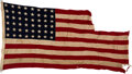 Military & Patriotic:WWII, SS (USS) Empire Javelin Ensign from the Normandy Invasion.. ...
