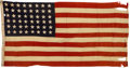 Military & Patriotic:WWII, General George S. Patton Headquarters Flag. . ...
