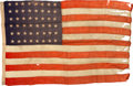 Military & Patriotic:WWII, U.S. 48-star Camp Flag of the Third Marine Division,1942-1945. . ...
