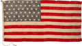 Military & Patriotic:WWII, 1912-1916 USS Missouri (BB-11) Ensign. . ...