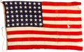 Military & Patriotic:WWII, USS Arizona (BB-39) [ATTRIBUTED] - Unserviceable 48-Star Naval Ensign. . ...
