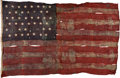 Military & Patriotic:WWII, USS Oklahoma (BB-37) [Attributed] - UNSERVICEABLE 45-Star Naval Ensign.. ...