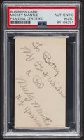 "Autographs:Index Cards, Circa 1951 Mickey Mantle ""N.Y. Yankees"" Signed Business Card, PSA/DNA Authentic...."