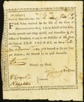 Colonial Notes:Massachusetts, Massachusetts Bounty Note Jan. 6, 1777 £10 Anderson MA-5 Very Fine-Extremely Fine.. ...