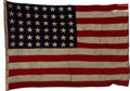 "Military & Patriotic:WWII, Pearl Harbor Ship - WWII ""Mighty Penn"" Naval Ensign. . ..."