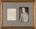 Autographs:Military Figures, Robert E Lee Autograph Letter Signed...