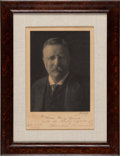 Autographs:U.S. Presidents, Theodore Roosevelt Photograph Signed and Inscribed. ...