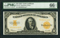 Fr. 1173 $10 1922 Gold Certificate PMG Gem Uncirculated 66 EPQ