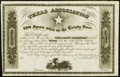 Obsoletes By State:Texas, (Austin, TX)/Louisville, KY- Texas Association 8,000 Square Miles on the Trinity River Stock Certificate 18__ Remainder Ch...