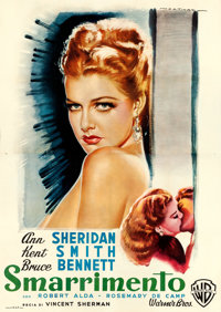 "Nora Prentiss (Warner Bros., 1948). Fine/Very Fine on Linen. Italian 4 - Fogli (55"" X 77.75"") Luigi Martinati..."