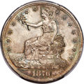 1876 T$1 Type One Obverse, Type Two Reverse, MS64+ PCGS. CAC