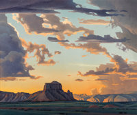 Ed Mell (American, b. 1942) Opening Skies Oil on canvas 60 x 72 inches (152.4 x 182.9 cm) Signed lower left: Ed Me