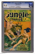 Golden Age (1938-1955):Adventure, Jungle Comics #103 (Fiction House, 1948) CGC VF/NM 9.0 Off-white to white pages. John Celardo cover and art. Matt Baker, Cha...