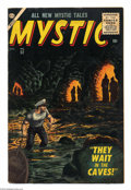 Silver Age (1956-1969):Horror, Mystic #52 (Atlas, 1956) Condition: FN+. Wally Wood art. Brownedges. Overstreet 2004 FN 6.0 value = $66....