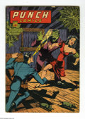 Golden Age (1938-1955):Superhero, Punch Comics #15 (Chesler, 1945) Condition: VG. Overstreet 2004 VG 4.0 value = $110....