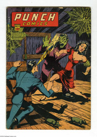 Punch Comics #15 (Chesler, 1945) Condition: VG. Overstreet 2004 VG 4.0 value = $110