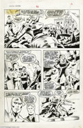 Original Comic Art:Panel Pages, John Buscema and Jack Abel - Marvel Fanfare #51 page 13 Silver Surfer Original Art (Marvel, 1990). Clay Quartermain and the ...