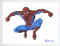 """Original Comic Art:Splash Pages, J. E. Smith - Spider-Man Pin-Up Original Art (2004). The wallcrawler gets the J. E. Smith touch in this stunning 9"""" x 12"""" i..."""