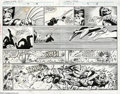 Original Comic Art:Splash Pages, Mark Texeira and Harry Candelario - Marvel Comics Presents #71,double-page spread Original Art (Marvel, 1991). Wolverine an...