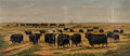 Fine Art - Painting, American, Harvey Wallace Caylor (American, 1867-1932). On the Ranch, 1898. Oil on canvas. 20-1/2 x 72-1/2 inches (52.1 x 184.2 cm)...
