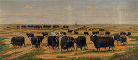 Harvey Wallace Caylor (American, 1867-1932) On the Ranch, 1898 Oil on canvas 20-1/2 x 72-1/2 inch