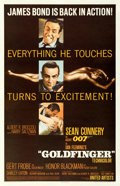 "Movie Posters:James Bond, Goldfinger (United Artists, 1964). Fine/Very Fine on Linen. One Sheet (27"" X 41.5"") Matte Finish Style.. ..."