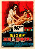 "Movie Posters:James Bond, Thunderball (United Artists, 1965). Very Fine- on Linen. Italian 4 - Fogli (54.5"" X 77""). Averardo Ciriello Artwork.. ..."