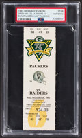 Football Collectibles:Tickets, 1993 1st Lambeau Leap Green Bay Packer Full Ticket, PSA Authentic. ...