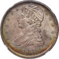Reeded Edge Half Dollars, 1837 50C GR-5, R.1, MS64 NGC....
