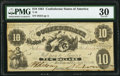 Confederate Notes:1861 Issues, T10 $10 1861 PF-16 Cr. 36 PMG Very Fine 30.. ...