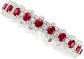 Estate Jewelry:Bracelets, Ruby, Diamond, Platinum Bracelet . ...