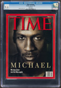 Basketball Collectibles:Publications, 1998 Michael Jordan TIME- CGC 9.6, Highest Graded Example!...