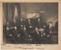 Autographs:U.S. Presidents, Theodore Roosevelt and His Cabinet Photograph Signed . ...