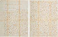Autographs:Military Figures, Freeman S. Dunklee of the 36th Illinois Infantry Archive of Letters. ...