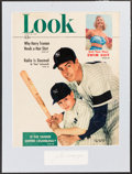 Autographs:Index Cards, Joe DiMaggio Cut Signature with Matted 1949 Look Magazine Cover....
