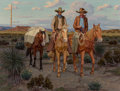 Fine Art - Painting, American, Fred Darge (American, 1900-1978). Going Home. Oil on canvas. 24 x 32 inches (61.0 x 81.3 cm). Signed lower right: F. D...
