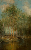 Paintings, Julian Onderdonk (American, 1882-1922). The Woodland Glade, Maine, 1909. Oil on canvas. 13 x 8 inches (33.0 x 20.3 cm). ...